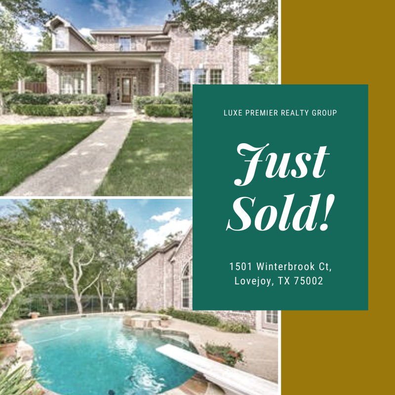 1501 Winterbrook Ct, Lovejoy, TX 75002 Just Sold